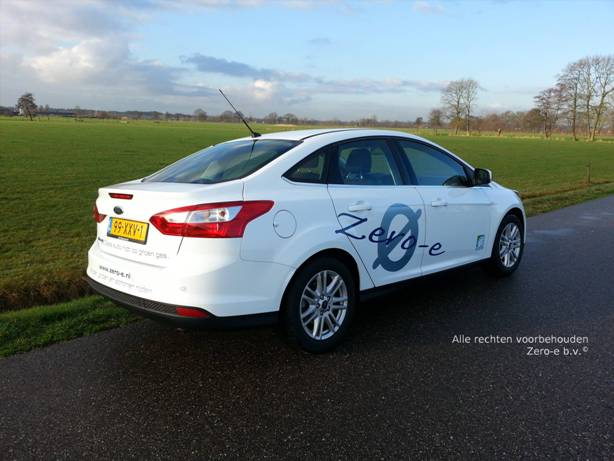 Zero-e b.v. Ford Focus 4d op CNG / groengas achter