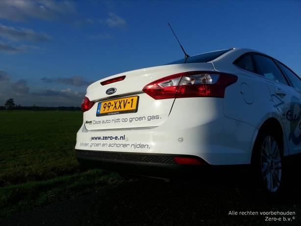 Zero-e b.v. Ford Focus 4d op CNG / groengas Minder, groener, schoner rijden